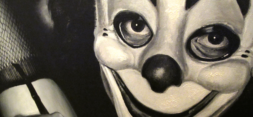 Painting the clown…